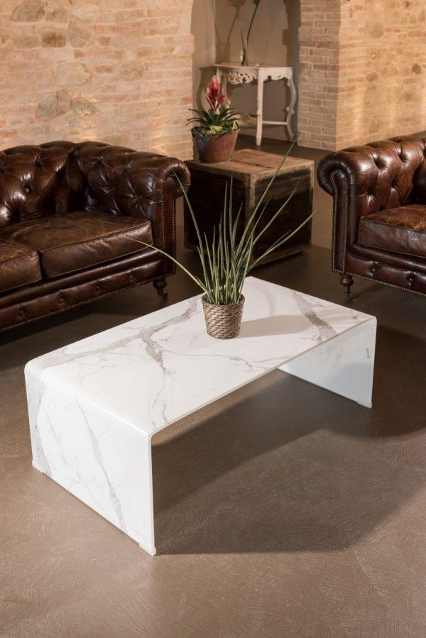 Tavolino Kir effetto marmo