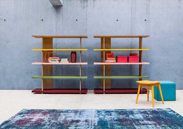 Libreria Zero.16 alta in legno