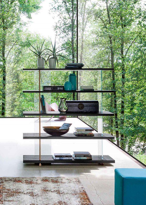 Libreria Zero.16 alta con vetro